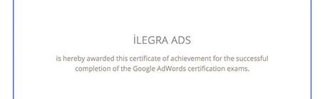 AdWords Sertifikası Hakkında